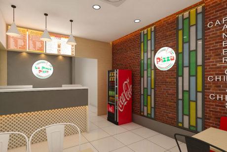 La Pinoz Pizza interior Design