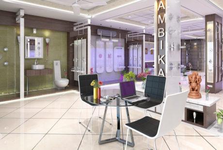 Show room office design